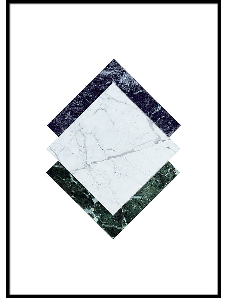 Marble Squares poster