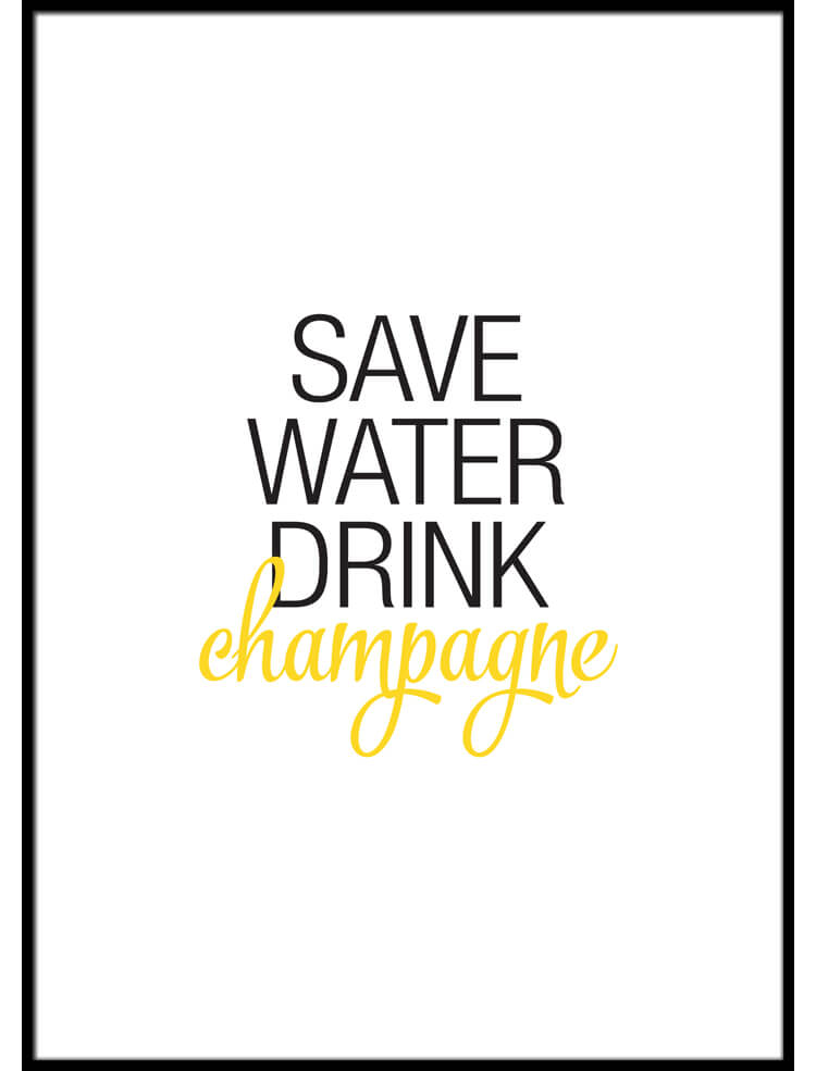 Drink Champagne poster