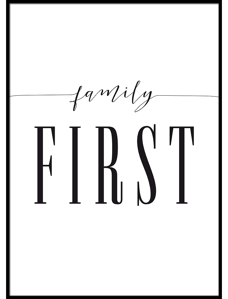 Family First poster