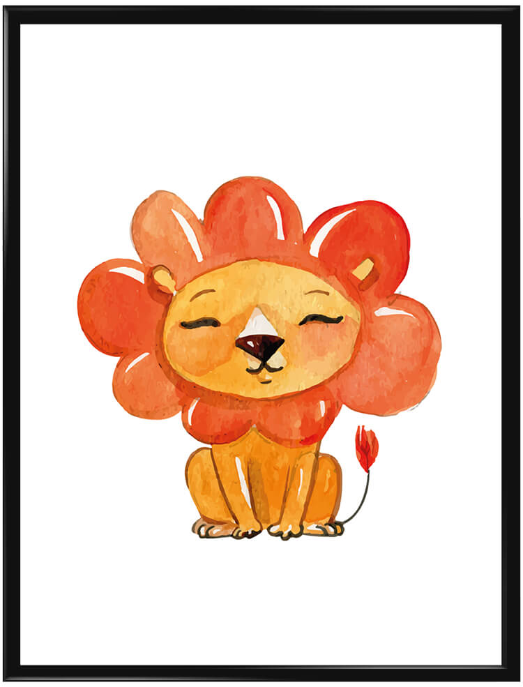 watercolor-lion