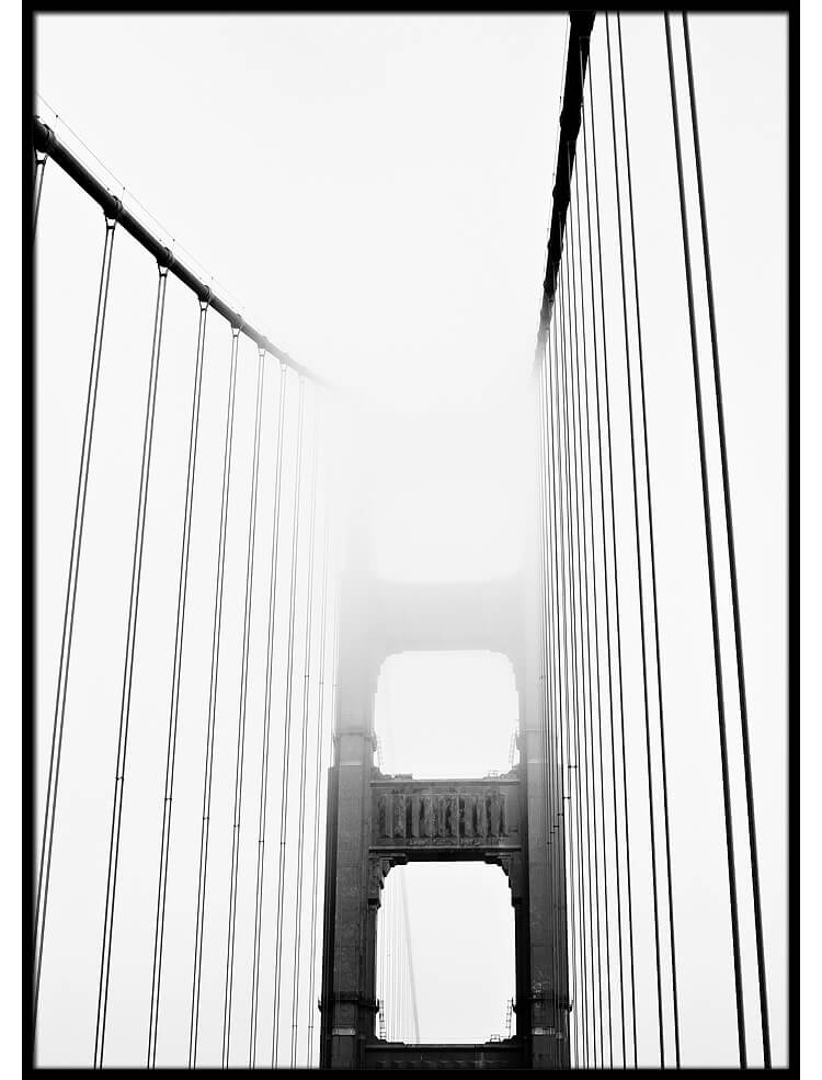Golden Gate mist poster