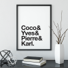 Coco, Yves, Pierre & Karl poster