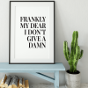 Frankly My Dear poster