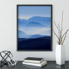 Misty mountain poster